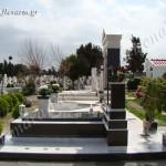 Ταφικό μνημείο οικογενειακού μεγέθους με μάρμαρο και γρανίτη