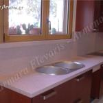 Κουζίνα από τεχνογρανίτη Eros Pink