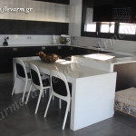 Κουζίνα από τεχνογρανίτη Spechio White
