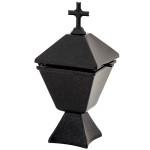 Θυμιατήρι τετράπλευρο μαύρο_αλουμινίου (Υψ.18,6ΧΠλ.8,5) κωδ.103.4