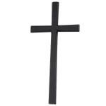 Σταυρός μαύρος_αλουμινίου (Υψ.33ΧΠλ.16) κωδ.108.5