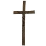 Σταυρός με τον Εσταυρωμένο μαύρος-μπρονζέ_αλουμινίου (Υψ.33ΧΠλ.16) κωδ.118.5 ή (Υψ.44,5ΧΠλ.20,5) κωδ.118.3