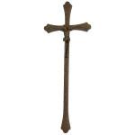 Σταυρός με τον Εσταυρωμένο μαύρος-μπρονζέ_αλουμινίου (Υψ.43ΧΠλ.16) κωδ.118.7