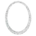 Κορνίζα οβάλ λευκή-μαύρη_ορειχάλκινη (Υψ.18ΧΠλ.13) κωδ.30-5300