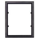 Κορνίζα τετράγωνη μαύρη_αλουμινίου (Υψ.18ΧΠλ.13) κωδ.105.7