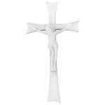 Σταυρός με τον Εσταυρωμένο λευκός_αλουμινίου (Υψ.43ΧΠλ.22,5) κωδ.118.9