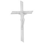 Σταυρός με τον Εσταυρωμένο λευκός_αλουμινίου (Υψ.22ΧΠλ.12) κωδ.109.7 ή (Υψ.44ΧΠλ.24) κωδ.118.4
