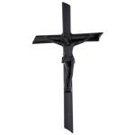 Σταυρός με τον Εσταυρωμένο μαύρος_αλουμινίου (Υψ.22ΧΠλ.12) κωδ.109.7 ή (Υψ.44ΧΠλ.24) κωδ.118.4