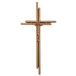 Σταυρός με τον Εσταυρωμένο μπρονζέ_ορειχάλκινος (Υψ.38ΧΠλ.18,5) κωδ.20-250