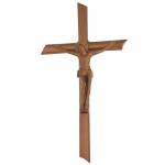 Σταυρός με τον Εσταυρωμένο παλαιωμένος_αλουμινίου (Υψ.22ΧΠλ.12) κωδ.109.7 ή (Υψ.44ΧΠλ.24) κωδ.118.4