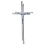 Σταυρός με τον Εσταυρωμένο σατινέ_ορειχάλκινος (Υψ.38ΧΠλ.18,5) κωδ.20-7250