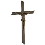 Σταυρός με τον Εσταυρωμένο μαύρος-μπρονζέ_αλουμινίου (Υψ.22ΧΠλ.12) κωδ.109.7 ή (Υψ.44ΧΠλ.24) κωδ.118.4