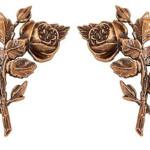 Τριαντάφυλλα μπρονζέ_ορειχάλκινα (Υψ.17ΧΠλ.10,5) κωδ.35-433 και 35-434