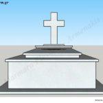 Προσχέδιο ταφικού μνημείου κανονικού μεγέθους