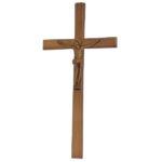 Σταυρός με τον Εσταυρωμένο παλαιωμένος_αλουμινίου (Υψ.33ΧΠλ.16) κωδ.118.5 ή (Υψ.44,5ΧΠλ.20,5) κωδ.118.3