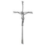 Σταυρός με τον Εσταυρωμένο χρωμίου_ορειχάλκινος (Υψ.45ΧΠλ.20,5) κωδ.108.11