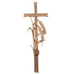 Σταυρός με φυτικό διάκοσμο μπρονζέ_ορειχάλκινος (Υψ.38ΧΠλ.13) κωδ.21-220