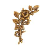 Τριαντάφυλλα μπρονζέ_ορειχάλκινα (Υψ.18ΧΠλ.10) κωδ.35-346
