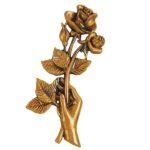 Τριαντάφυλλα μπρονζέ_ορειχάλκινα (Υψ.20,5ΧΠλ.10) κωδ.35-455