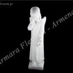 Άγγελος δακρύζων λευκός_πολυεστερικός (Υψ.50ΧΠλ.13) κωδ.60-670