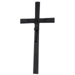 Σταυρός με τον Εσταυρωμένο μαύρος_αλουμινίου (Υψ.33ΧΠλ.16) κωδ.118.5 ή (Υψ.44,5ΧΠλ.20,5) κωδ.118.3