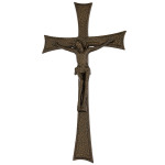 Σταυρός με τον Εσταυρωμένο μαύρος-μπρονζέ_αλουμινίου (Υψ.43ΧΠλ.22,5) κωδ. 118.9