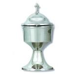 Θυμιατήρι στρογγυλό χρωμίου_ορειχάλκινο (Υψ.16,5ΧΠλ.9) κωδ.03-6157