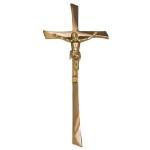 Σταυρός με τον Εσταυρωμένο επίχρυσος_ορειχάλκινος (Υψ.45ΧΠλ.20) κωδ.28-247