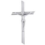 Σταυρός με τον Εσταυρωμένο νίκελ ματ_αλουμινίου (Υψ.22ΧΠλ.12) κωδ.109.7 ή (Υψ.44ΧΠλ.24) κωδ.118.4