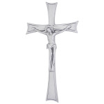 Σταυρός με τον Εσταυρωμένο νίκελ ματ_αλουμινίου (Υψ.43ΧΠλ.22,5) κωδ.118.9