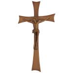 Σταυρός με τον Εσταυρωμένο παλαιωμένος_αλουμινίου (Υψ.43ΧΠλ.22,5) κωδ.118.9
