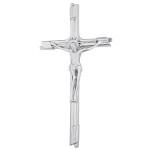 Σταυρός με τον Εσταυρωμένο χρωμίου_ορειχάλκινος (Υψ.23,5ΧΠλ.12) κωδ.109.4 ή (Υψ.45ΧΠλ.23) κωδ.118.2