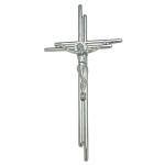 Σταυρός με τον Εσταυρωμένο χρωμίου_ορειχάλκινος (Υψ.38ΧΠλ.18,5) κωδ.20-6250