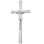 Σταυρός με τον Εσταυρωμένο χρωμίου_ορειχάλκινος (Υψ.33ΧΠλ.16) κωδ.118.5 ή (Υψ.44,5ΧΠλ.20,5) κωδ.118.3