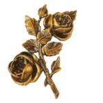 Τριαντάφυλλα μπρονζέ_ορειχάλκινα (Υψ.17ΧΠλ.10,5) κωδ.35-433