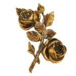 Τριαντάφυλλα μπρονζέ_ορειχάλκινα (Υψ.17ΧΠλ.10,5) κωδ.35-434