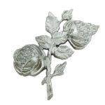 Τριαντάφυλλα χρωμίου_ορειχάλκινα (Υψ.17ΧΠλ.10,5) κωδ.35-6433