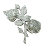 Τριαντάφυλλα χρωμίου_ορειχάλκινα (Υψ.17ΧΠλ.10,5) κωδ.35-6434