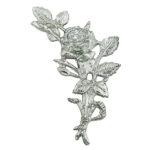 Τριαντάφυλλα χρωμίου_ορειχάλκινα (Υψ.18ΧΠλ.10) κωδ.35-6356