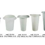 Πλαστικά κύπελλα ανθοδοχείων χρώματος λευκού