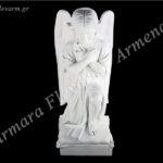 Αγγελάκι σε στάση προσευχής λευκό_πολυεστερικό (Υψ.54ΧΠλ.21) κωδ.60-607