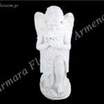 Αγγελάκι σε στάση προσευχής λευκό_πολυεστερικό (Υψ.32ΧΠλ.15) κωδ.60-605