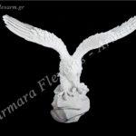 Αετός με ανοιχτά φτερά πάνω σε βράχο λευκός_πολυεστερικός (Υψ.39ΧΠλ.32,5) κωδ.60-616