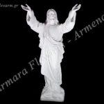 Χριστός Δεόμενος λευκός_πολυεστερικό (Υψ.72ΧΠλ.37 και Υψ.105ΧΠλ.50) κωδ.60-614